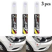 Fansport 3PCS Scratch Pen for Cars Multipurpose Car Scratch Repair Remover Paint Marker Paint Pen-White (Small brush head, not a pen)