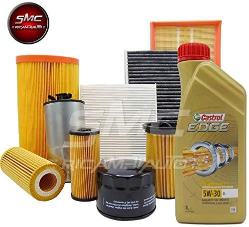 KIT TAGLIANDO CON 4 FILTRI MISTI (filtro aria WA9470 + filtro olio SO239 + filtro carburante SRN247 + filtro abitacolo XENEX10765) + 4 LITRI OLIO MOTORE CASTROL EDGE LL 5W30
