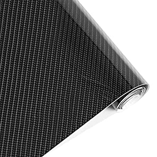 Winiron 5D Carbon Glossy Fiber Vinyl Wrap Roll, 30 x 152cm Air Bubble Free DIY Decal Sheet with Air Release