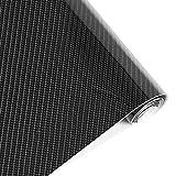 BangShou Autofolie 5D Carbon Folie Autofolie 3M Aufkleber Vinyl Wrap 5D DIY Auto Folie mit Luftkanäle Verdickt Dekorative Schwarz (152 * 30cm) (5D Schwarz)