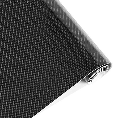 Winiron Autofolie 5D Carbon Folie Autofolie 3M Aufkleber Vinyl Wrap 5D DIY Auto Folie mit Luftkanäle Verdickt Dekorative Schwarz (152 * 30cm) (5D Schwarz)