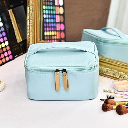 Voyage de stockage cosmétique sac petit portable mini grande capacité imperméable à l'eau de stockage cosmétique sac cosmétique sac à main , sky blue 11