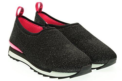 HOGAN REBEL donna sneakers senza lacci HXW2610U57095XB999 39 Nero-Fux