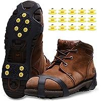 Racos de Hielo Tracción Antideslizante Más de Zapatos/Para 15 Tacos Nieve Hielo Grips Crampones Tacos Picos(negro, L)