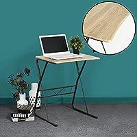 Table d'étude Ordinateur Bureau Coava Bureau à domicile Bureau en bois avec des pieds en métal robuste pour PC Ordinateur portable Overbed Étude de la table de lecture