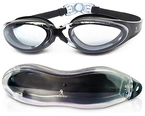 GSB Pro Swimming Goggles - Anti Fog - UV Protection - Clear Vision - Comfort Fit - Water Tight -...