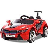 Kinder elektrische Fahrt auf Auto Elektro-Kinderwagen Doppel-Elektro-Doppelantrieb Kinderwagen rot + Putter + Fernbedienung + Licht Rad + langsamer Start + Stoßdämpfer