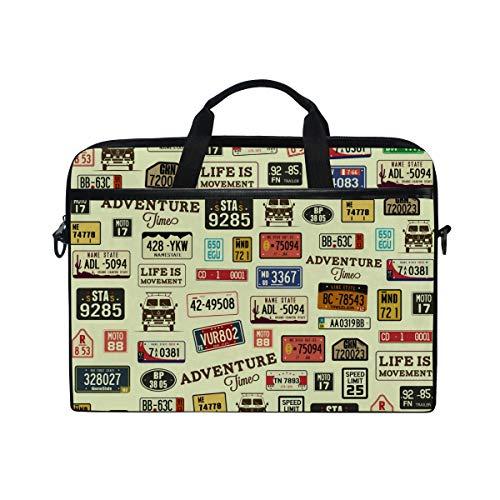 Ahomy Digital-Notebook-Tasche mit Nummernschild, 14-15,4 Zoll, multifunktional, Stoff, wasserdicht, Laptop-Tasche