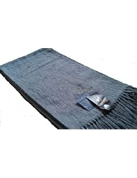 Commerce équitable Unisexe Luxueux bolivien Laine souple alpaga laine  Echarpe - Gris clair 9c3f84c611a