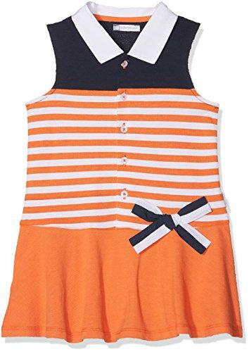 TUTTO PICCOLO Baby - Mädchen Kleid, 4244S18, Orange, 4244S18 86 cm Tutto Piccolo