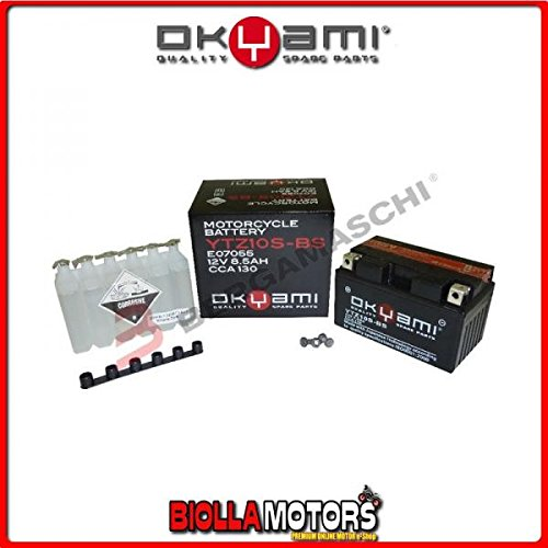 E07055 BATTERIA OKYAMI YTZ10S-BS SIGILLATA CON ACIDO YTZ10SBS MOTO SCOOTER QUAD CROSS