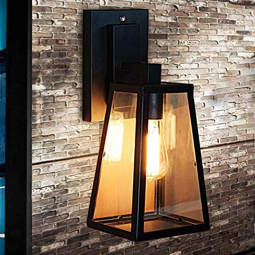Uben applique da parete per esterni lampade da interno semplice industriale per tende da sole loft stile vintage applique da parete (nero)