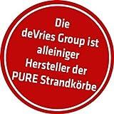 Strandkorb Trendy by deVries Pure Classic XL SUN PE Seashell – Dessin 415 inkl. Strandkorb Schutzhülle *NEUHEIT* INNEN UND AUSSEN DURCHGEFLOCHTEN - 5