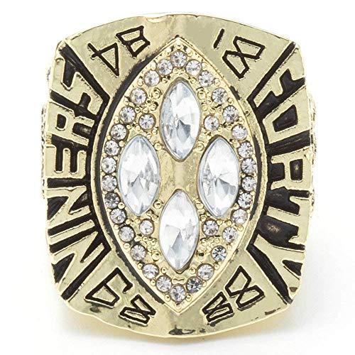 XYQ Champion Ring Fan High-End Kollektion Ring Fans Geschenk Dekoration Ring, Gold, 11 (Armband 49ers)