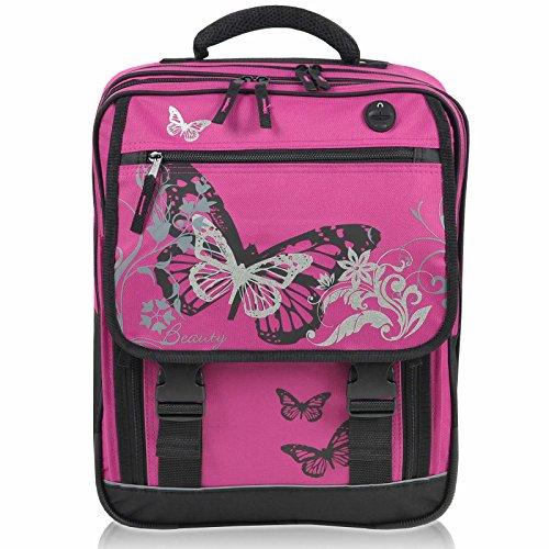 """Fabrizio Schulrucksack """" Butterfly"""" pink - 2"""