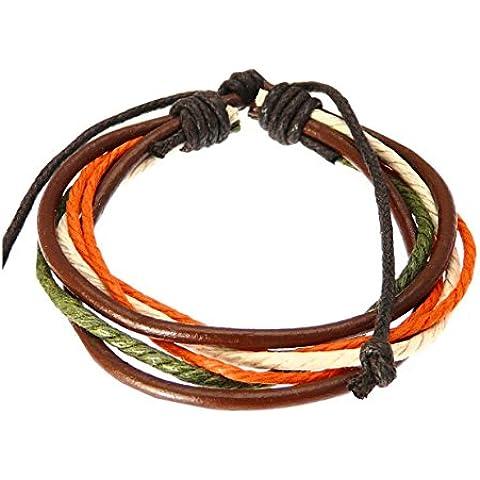 Cuero y cordón de la pulsera / muñequera de cuero / pulsera de surf -02