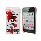 Very Light Pinkish Keep Calm and Kill Zombies Hard Back Case Cover Shield For Apple iPod Touch 4 4th gen Generation From My Fone UK