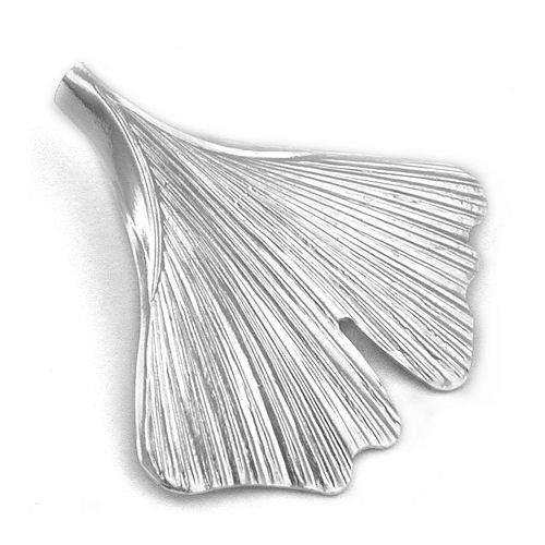 Anhänger, 33mm Ginkgo-Blatt, Silber 925 -
