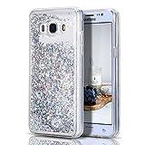 Hülle für Samsung J5 2016, CaseLover TPU Weiches Silikon Modisch Case für Samsung Galaxy J5 / J5 2016 Glittery Pailletten Liquid Floating Quicksand Galaxy J510 5.2