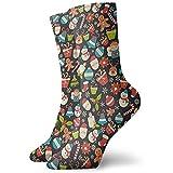 Be-ryl Schneeflocken-Lebkuchen-Weihnachtsbaum-athletische Socken-Söckchen-Sport-beiläufige Socken-Baumwollmannschafts-Socken