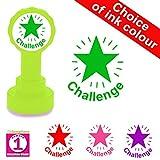 Challenge, sello para profesor de nivel de maestría con diseño de estrella, color verde