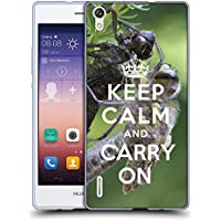 Super Galaxy Coque de Protection TPU Silicone Case pour // Q01013403 keep calm and carry on 620 // Huawei Ascend P7