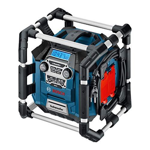 Bosch Professional 18V System Akku Baustellenradio GML 20 (20 Watt, USB, SD, 2x Aux-In, Aux-Out, 12V DC Strombuchse, ohne Akkus und Ladegerät, im Karton)