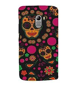 Colourful Skull Wallpaper 3D Hard Polycarbonate Designer Back Case Cover for Lenovo Vibe K4 Note :: Lenovo K4 Note A7010a48 :: Lenovo Vibe K4 Note A7010 :: Lenovo Vibe X3 Lite