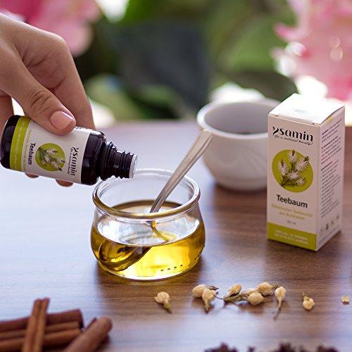 100% Teebaumöl 30ml Australien Naturrein | gegen Akne, Pickel, unreine Haut, Fußpilz, Mundgeruch, Mückenstiche ISO 4730-2017 Standard in Violettglas von Ysamin - 7