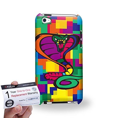 Case88 [Apple iPod Touch 4] 3D Hülle / Schutzhülle & Garantiekarte - Art Drawing Cobra Kawaii Abstract Animals -