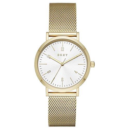 DKNY Damen Analog Quarz Uhr mit Edelstahl Armband NY2742