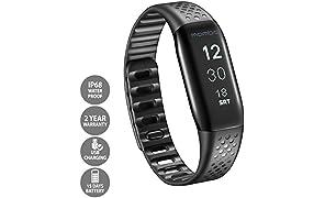 Lifesense Mambo Fitness Band/pedometer/sleep Tracker/smart Activity Tracker/phone Alert for Android and Iphone (Black)