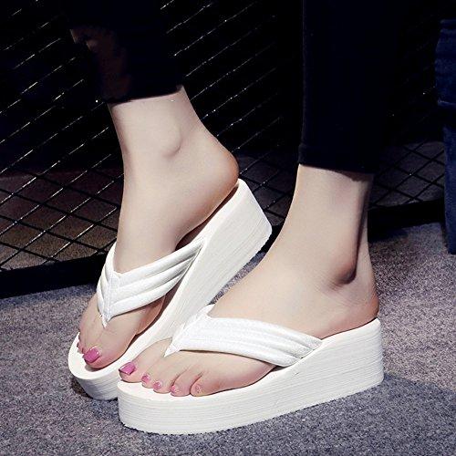 Estate Sandali Flip flops Slip di estate femminile Sandali impermeabili inferiori del fondo Sandali di personalità di moda con i formati Colore / formato facoltativo 1003