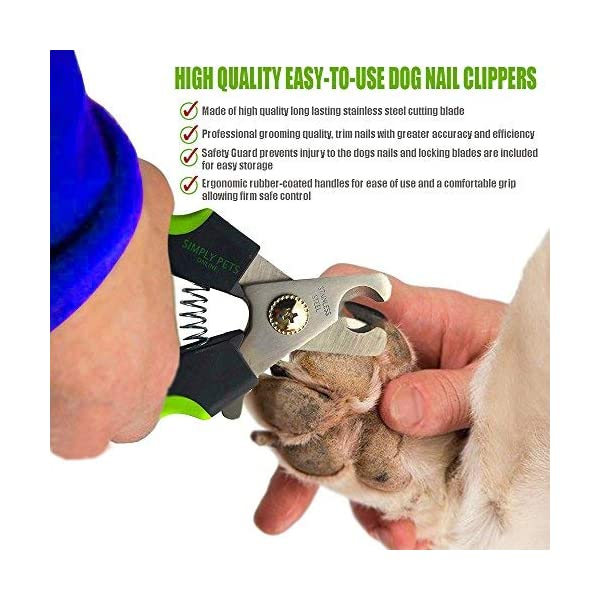Simply Pets Online Dog Nail Clippers - Professional Nail Clippers for Dogs with Quick Sensor and Lock ... 2