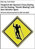 Vergleich der Sportart Cross-Skating mit Ski-Skating,