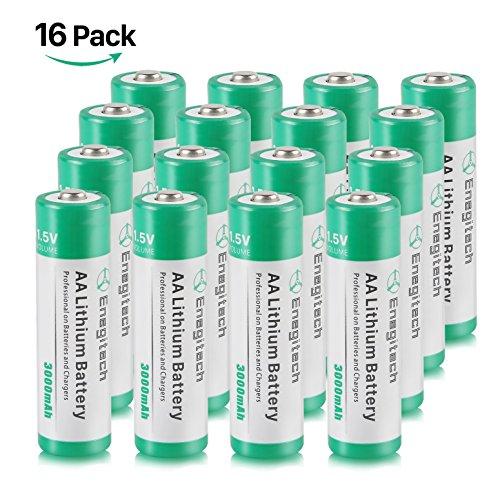 Galleria fotografica Batteriol AA Pile Lithium Batterie a Litio 1.5V 2800mAh Non Ricaricabile, Confezione da 16 Pezzi