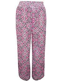 holidaysuitcase Plus Größe 22-30 UK Damen weich pink Palazzo Sommerhose e393a1227a
