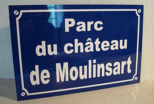 Noir & Mat Sérigraphie Plaque de Rue Tintin Parc du Chateau de moulinsart création Objet Collector Edition limitée