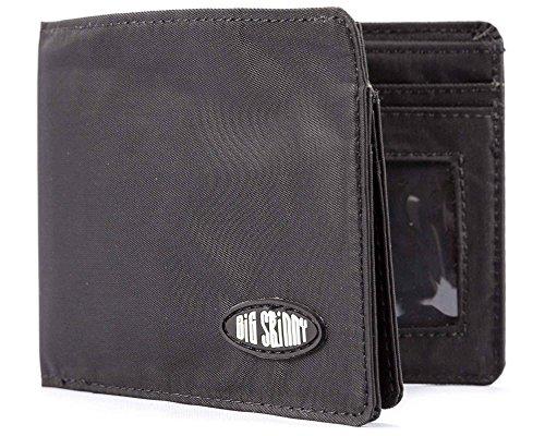 Big Skinny Men's L-Fold Passcase Slim Wallet, Holds Up to 30 Cards, Black Big Skinny