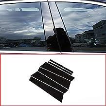 DIYUCAR - Kit de embellecedores de poste para ventana de aluminio pulido negro B C para nueva