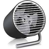 CSL - USB ventilador portátil | Ventilador de mesa / Mini USB Desk Fan / Ventilador de escritorio | Regulación de velocidad de dos niveles (táctil) | Silencioso / máx. 45 dB (A) | Gran caudal de aire (2 palas) | Ángulo de inclinación aprox. 30° | Negro