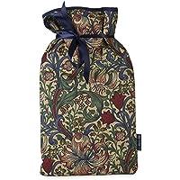 Blue Badge Co Grande bouteille d'eau chaude avec couverture souple en William Morris Golden Lily