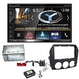 Kenwood DNX-5180DABS Navigation Naviceiver Bluetooth DAB+ Digitalradio Android Auto Smartphone CarPlay USB CD DVD Autoradio FLAC Doppel DIN Einbauset für Mazda MX-5 NC FL