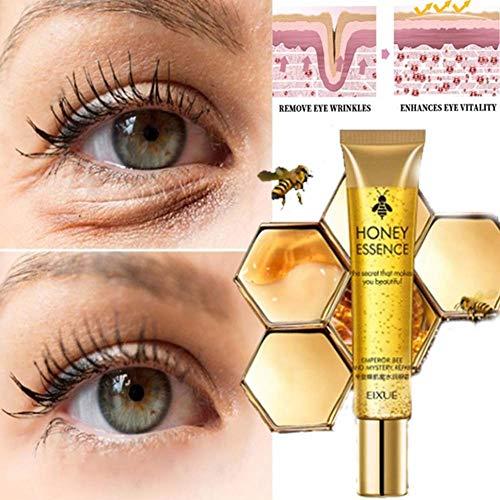 Yiwa Crema humectante para ojos con miel Quite las ojeras y la sequedad Bolsas para ojos Productos para el cuidado de los ojos