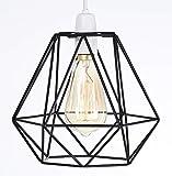 Paralume stile gabbia retrò, design vintage a filo industriale, facile da installare su plafoniera o lampada da tavolo / piantana