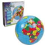 XXL großer Beachball aufblasbarer Globus Wasserball Weltkugel Erde Weltkarte 100cm riesen Strand Ball
