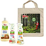 Poliboy Bio Parkett & Holzdielen Pflege (1000 ml), Bio Küchen Reiniger (500 ml) und Bio Allzweck Reiniger (500 ml) + Baumwolltasche - Vegan - Made in Germany