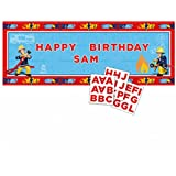 Amscan International 1.2 m x 45 cm Fireman Sam Personalised Banners