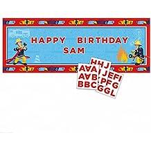 Amscan Internacional 1,2 mx 45 cm Fireman Sam personalizada Banners