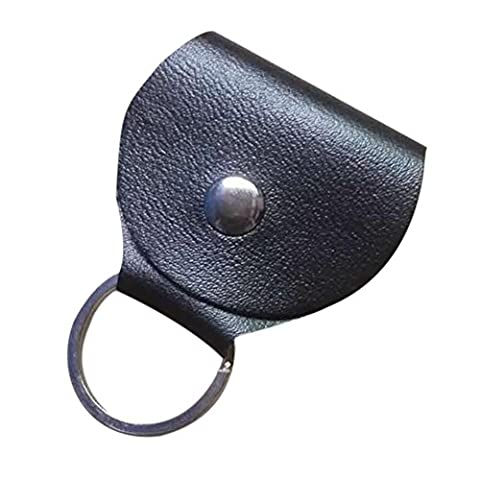 Guitar Picks Holder, Hankyky Round Buckled PU Leather O Ring Keychain Pick Case